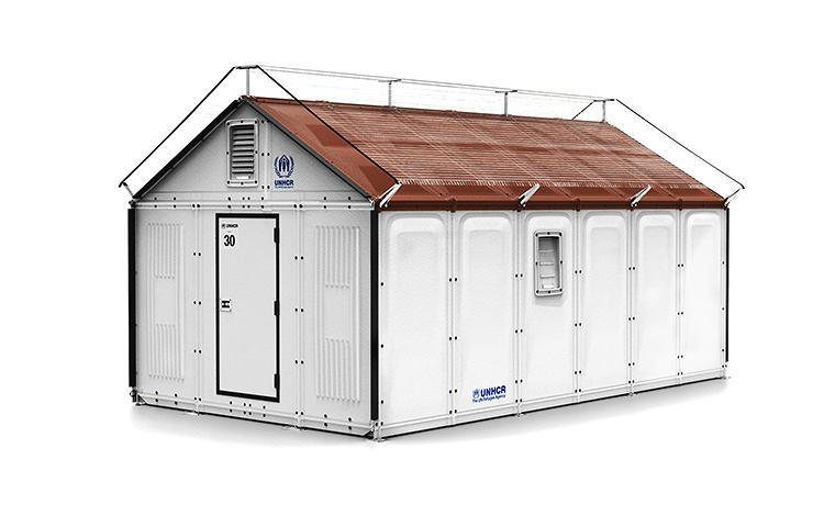 Crean nueva cabaña barata para refugiados con paneles solares y salida USB