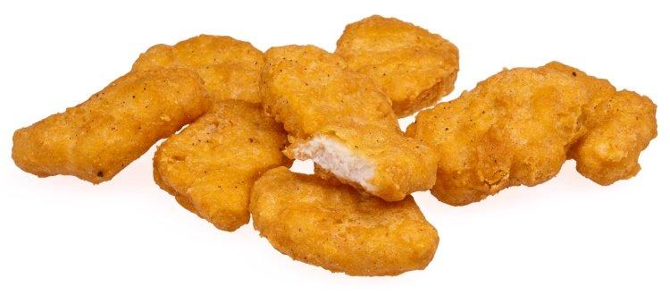 Los Chicken McNuggets contienen fibras extrañas