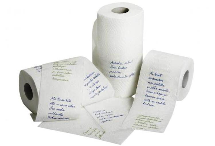 Papel higiénico con pasajes de la Biblia