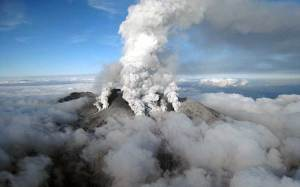 Volcán de peregrinaciones religiosas estalla