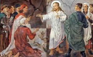 Imagen en pintura de Jesús enfurece a los fieles