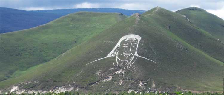 la tumba de Genghis Khan desde el espacio