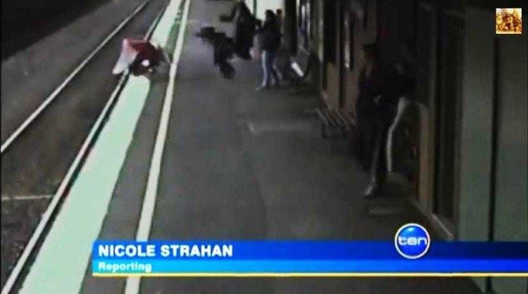 Bebé atropellado por un tren