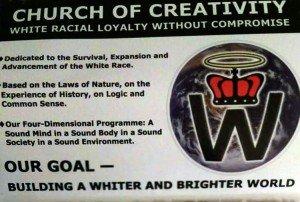 folletos de Iglesia Racista