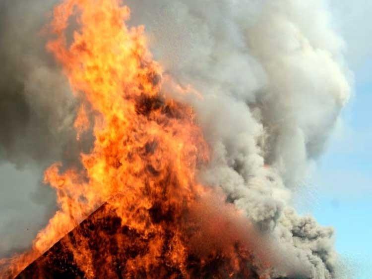 incendio de una Parrilla