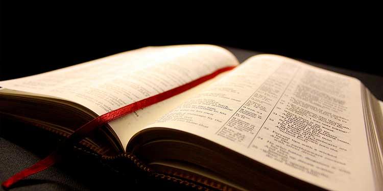 Biblia totalmente seca después de inundación