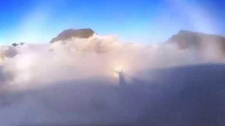 Jesús apareció en las nubes?