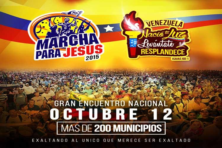 Miles de creyentes venezolanos marchan para Jesús