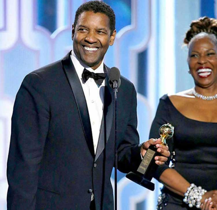 Evangélico Denzel Washington recibe Globo de Oro