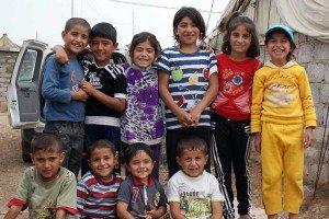 los niños en Siria