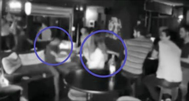 Joven israelí que golpea a 3 hombres que la acosan