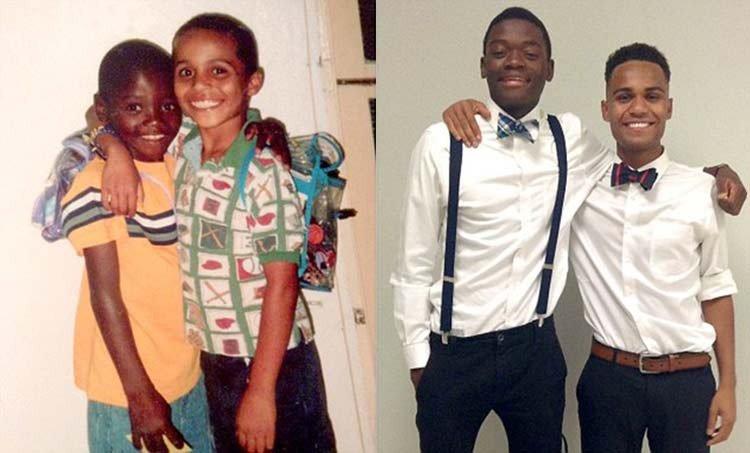 Dos mejores amigos huérfanos de África adoptados