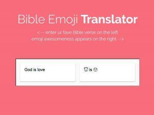 Biblia Emoji pretende interpretar las Escrituras