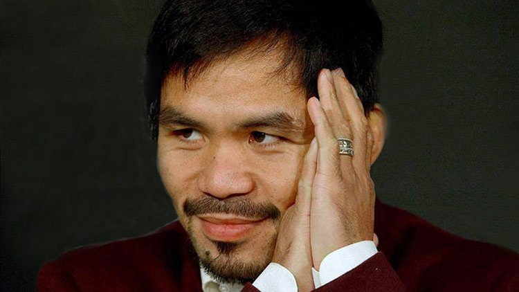 Manny Pacquiao aprende la biblia en el Senado