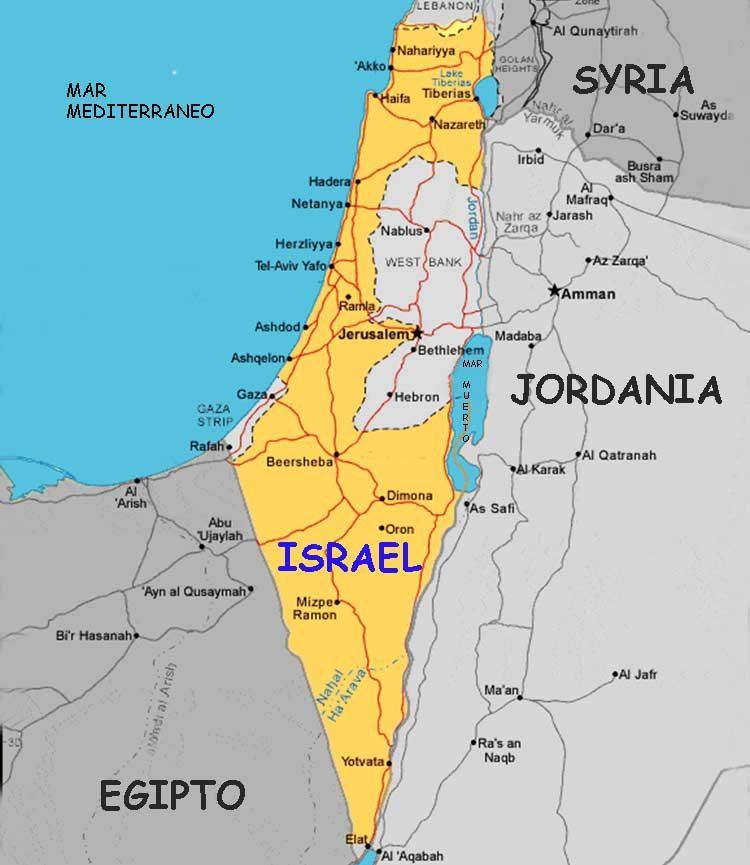 israel mapa Hará Trump un cambio en el mapa de Israel? israel mapa