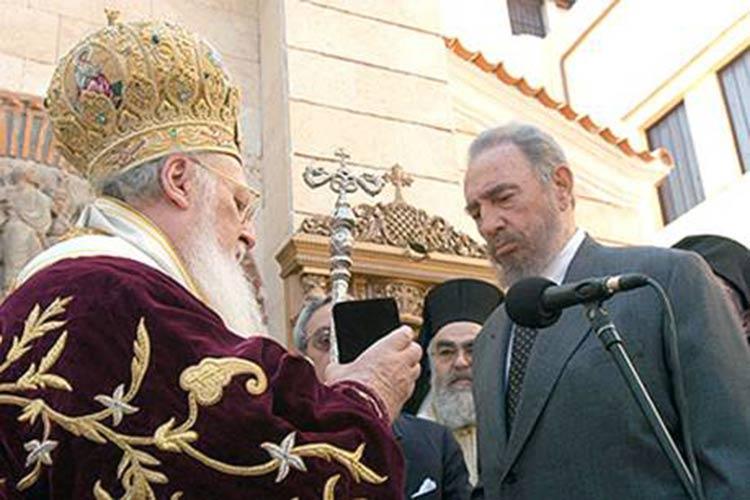 El Patriarca Ecuménico Bartolomé y Fidel Castro