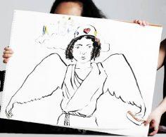 Niños describen la imagen de Dios a un ilustrador