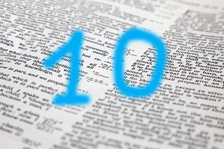 Significado del número 10 en la Biblia