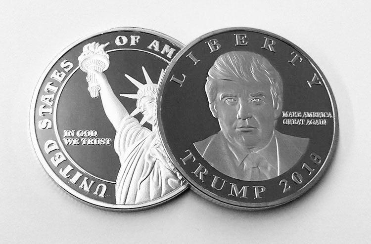 Acuñan moneda con el rostro de Trump y Ciro en Israel